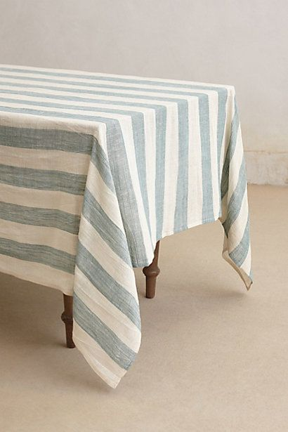 Sea Stripes Table Cloth #anthropologie  Tabletop  Pinterest Alluring Tablecloth For Dining Room Table Design Inspiration