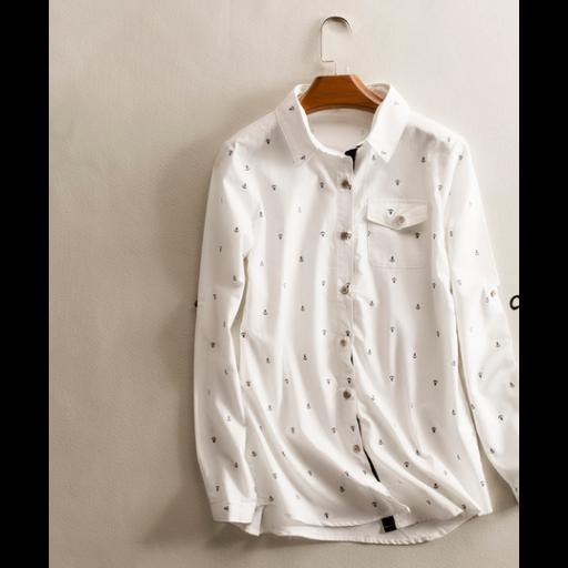 قميص ابيض نسائي كتان Tops Shirts White Shirt