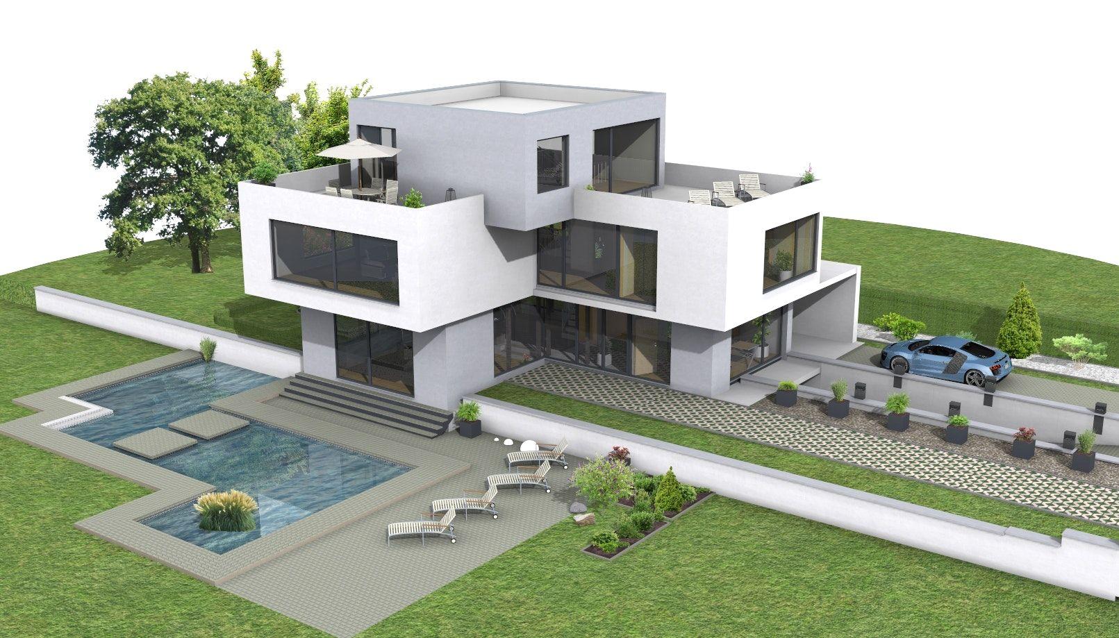 Superieur Dekoration Ideen Moderne Villa Grundriss 3d Mit Wohnung Selbst Erstellen  Zeichnen Und 0 Moderne Villa Grundriss