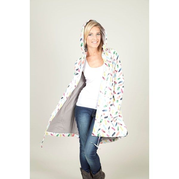 Feather Raincoat from Broadway, Crouch End (mail order from Miinto). Be prepared for April showers