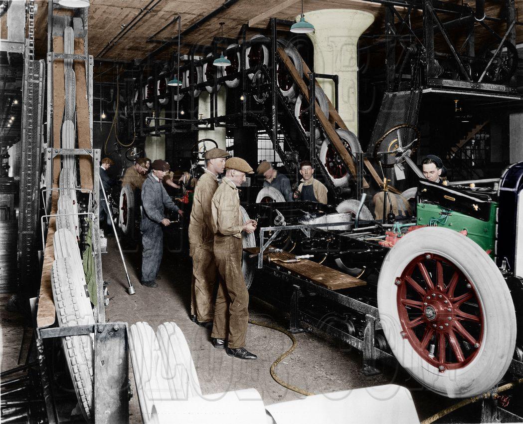 Istoriya Ameriki V Cvete 105 Foto Assembly Line Line Worker History