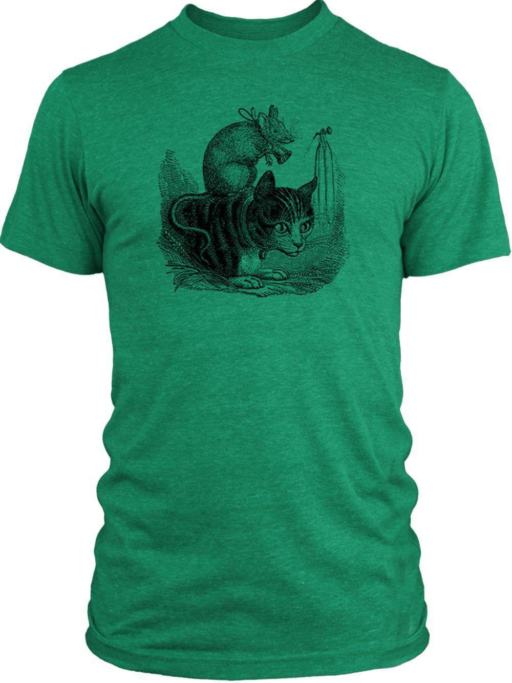 Big Texas Cat and Mouse (Black) Vintage Tri-Blend T-Shirt
