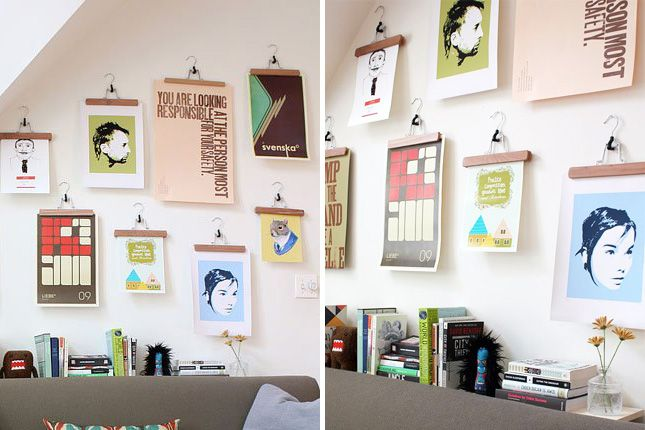 Save A Wall Hang Poster 20 Ideas For Alternative Art Display Via Brit