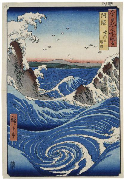 Awa Province Naruto Rapids Japanese Art Japanese