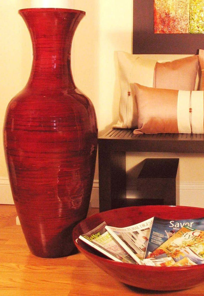 Red Glossy Decorative Vase For The Home Pinterest Decorative Vases