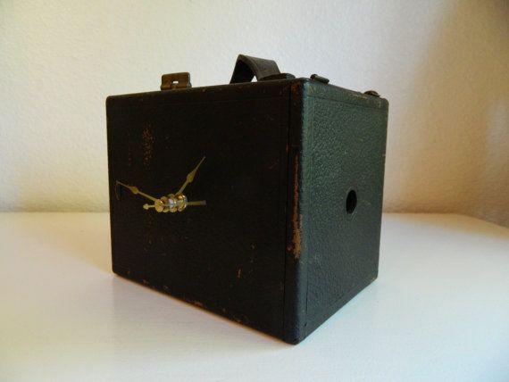 Antique Camera Clock, Ansco Camera Clock