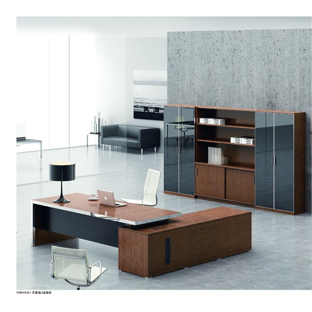 High end luxury ceo office furniture modern practical solid wood executive desk