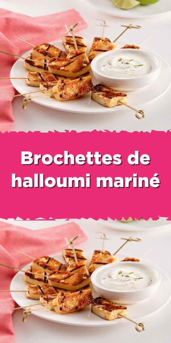 Brochettes De Halloumi Marine Food Halloumi Desserts