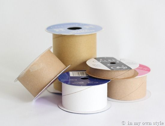 Ribbon Spool Gift Boxes  inmyownstyle.com