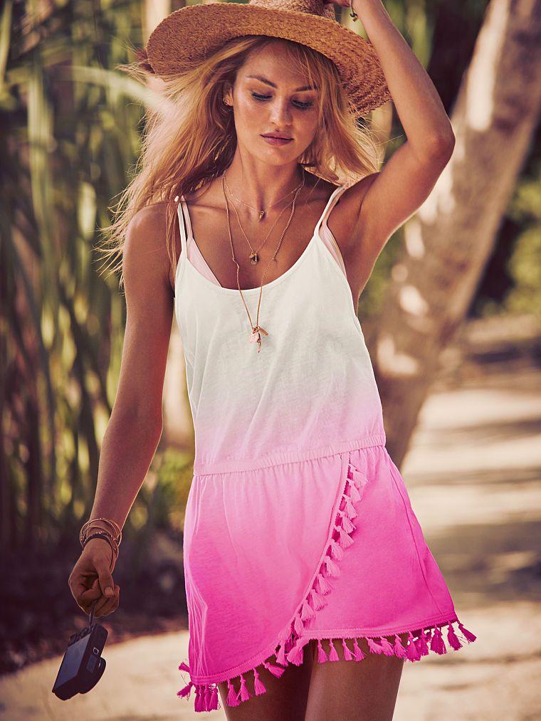 679db5d66d Fringe Cover-up Dress - Victoria's Secret - Candice Swanepoel ...