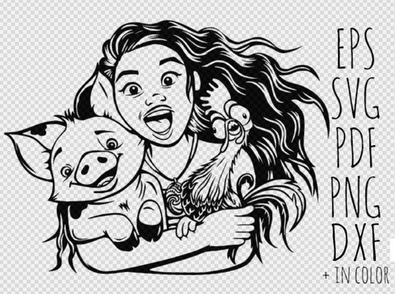 Disney Moana Svg Moana Clipart Moana Printable Moana Svg File Disney Moana Hei Hei Svg Cricut Digital Item Instant Download Moana Clip Art Disney