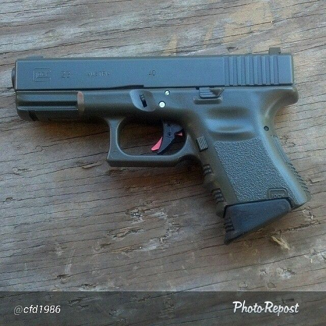Glock done in DuraCoat OD Green using the new DuraCoat Aerosol