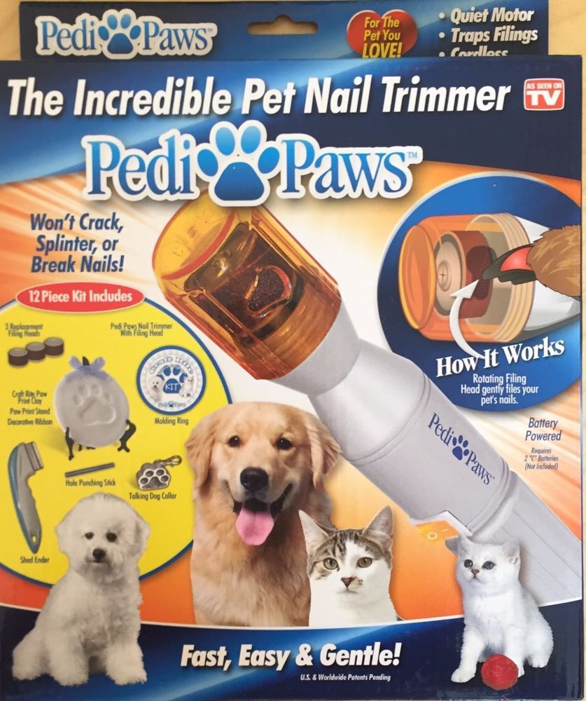 New Pedipaws Kit THE INCREDIBLE PET NAIL TRIMMER Dog Cat Pedicure