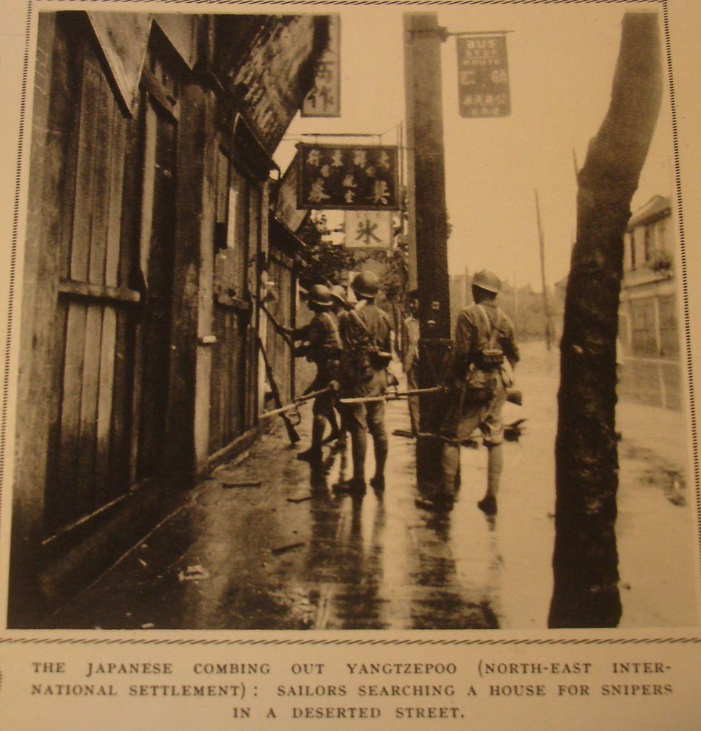 老杂志上的抗战图片 敲敲门 1937 China Japan War Japanese Meiji Restoration Imperial Army