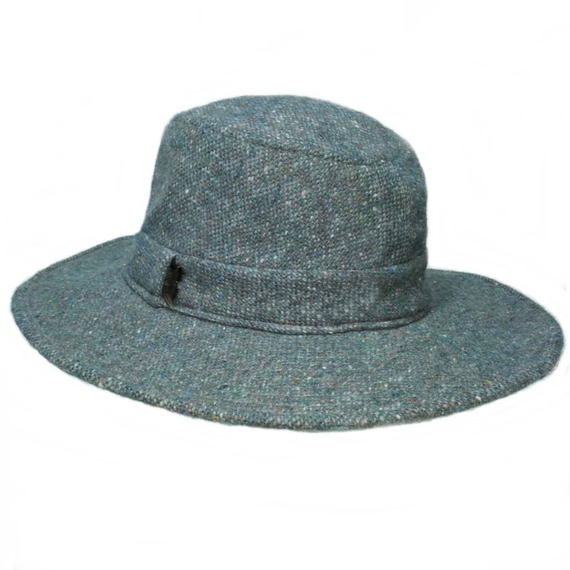 Hipster - Foxhunter Flecked Wool Tweed Tribly -Fedora  Hat