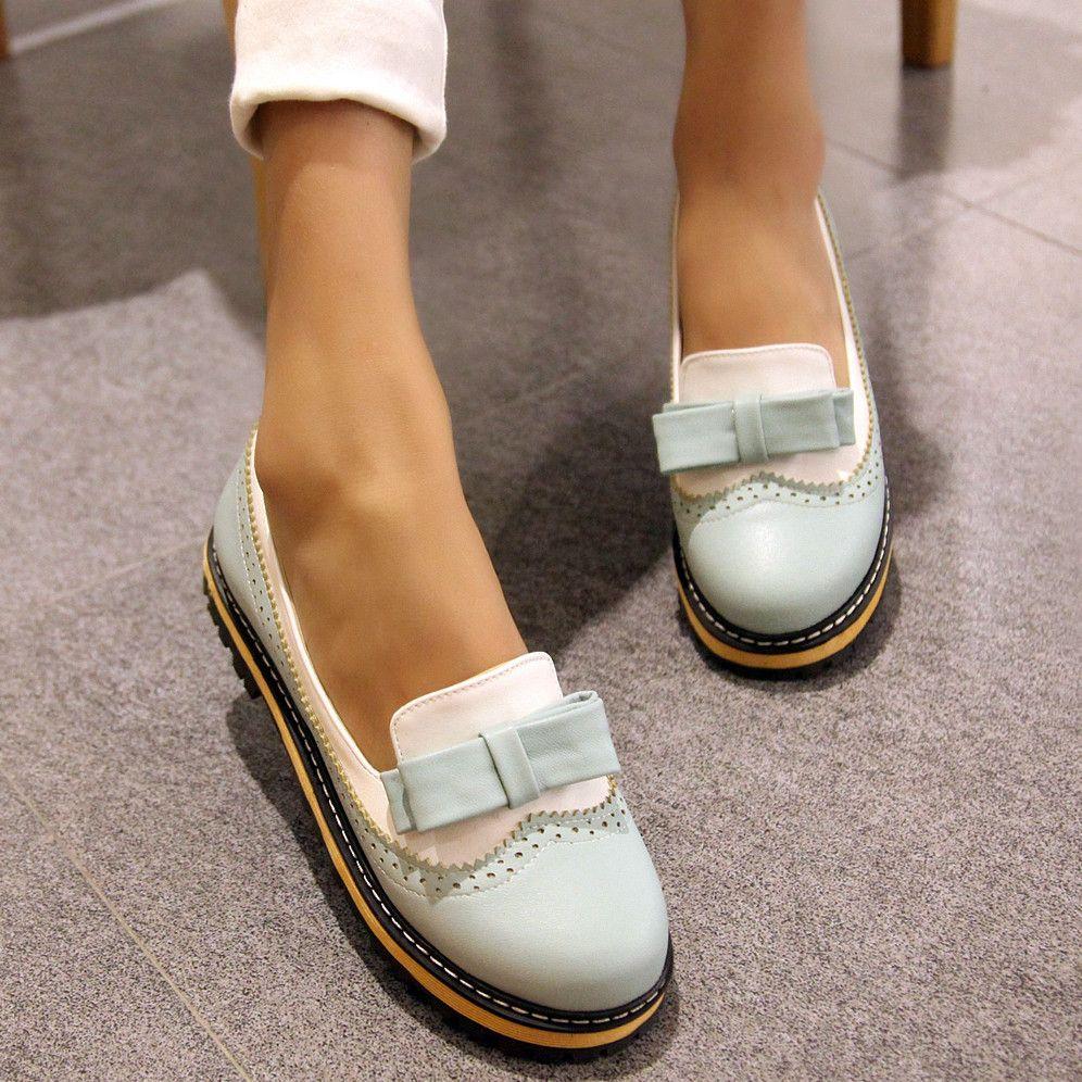 85054dc61ca Find More Women s Flats Information about 2016 new fashion platform shoes  round toe mix color women flats bowtie casual flat shoes woman 3 colors  laides ...