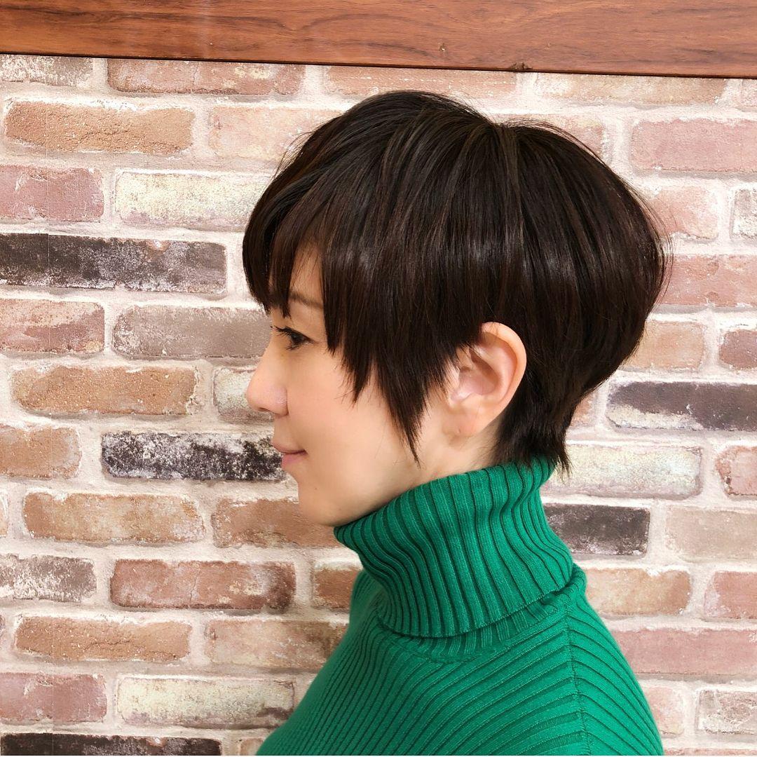 ヘアカタ 短い髪のためのヘアスタイル 渡辺満里奈 髪型