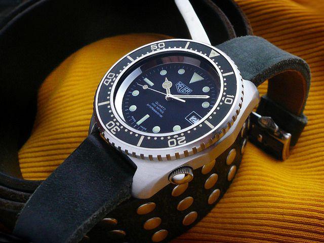 Vintage heuer diver quartz watches pinterest vintage dive watches and tag heuer - Heuer dive watch ...