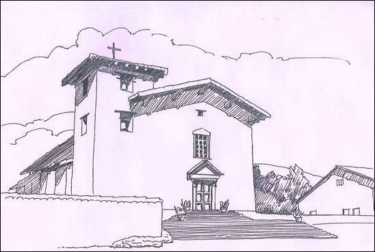 mission san jose coloring pages