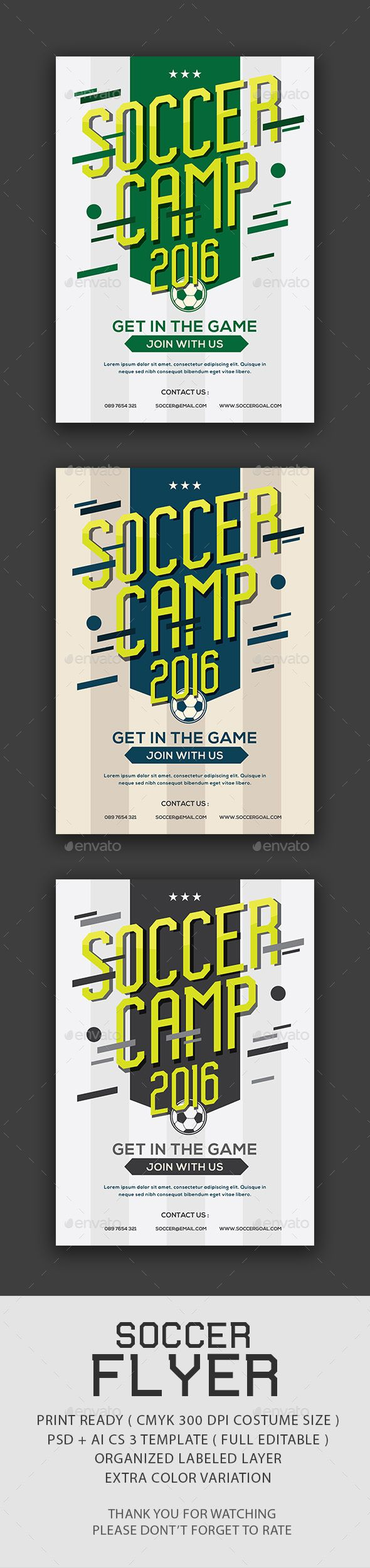 Soccer Camp Flyer  Event Flyers Brochures And Design Layouts