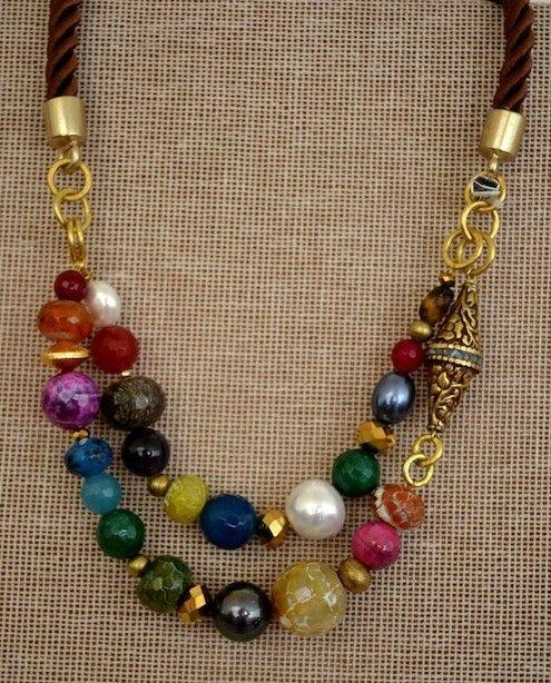 5f8a0c38d434 collares con piedras de colores - Buscar con Google