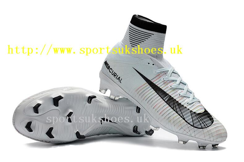 Sites Nike Kids Mercurial Superfly V CR7 Ronaldo FG Football Boots -  White Blue Tint 13a2a50cc7bd3