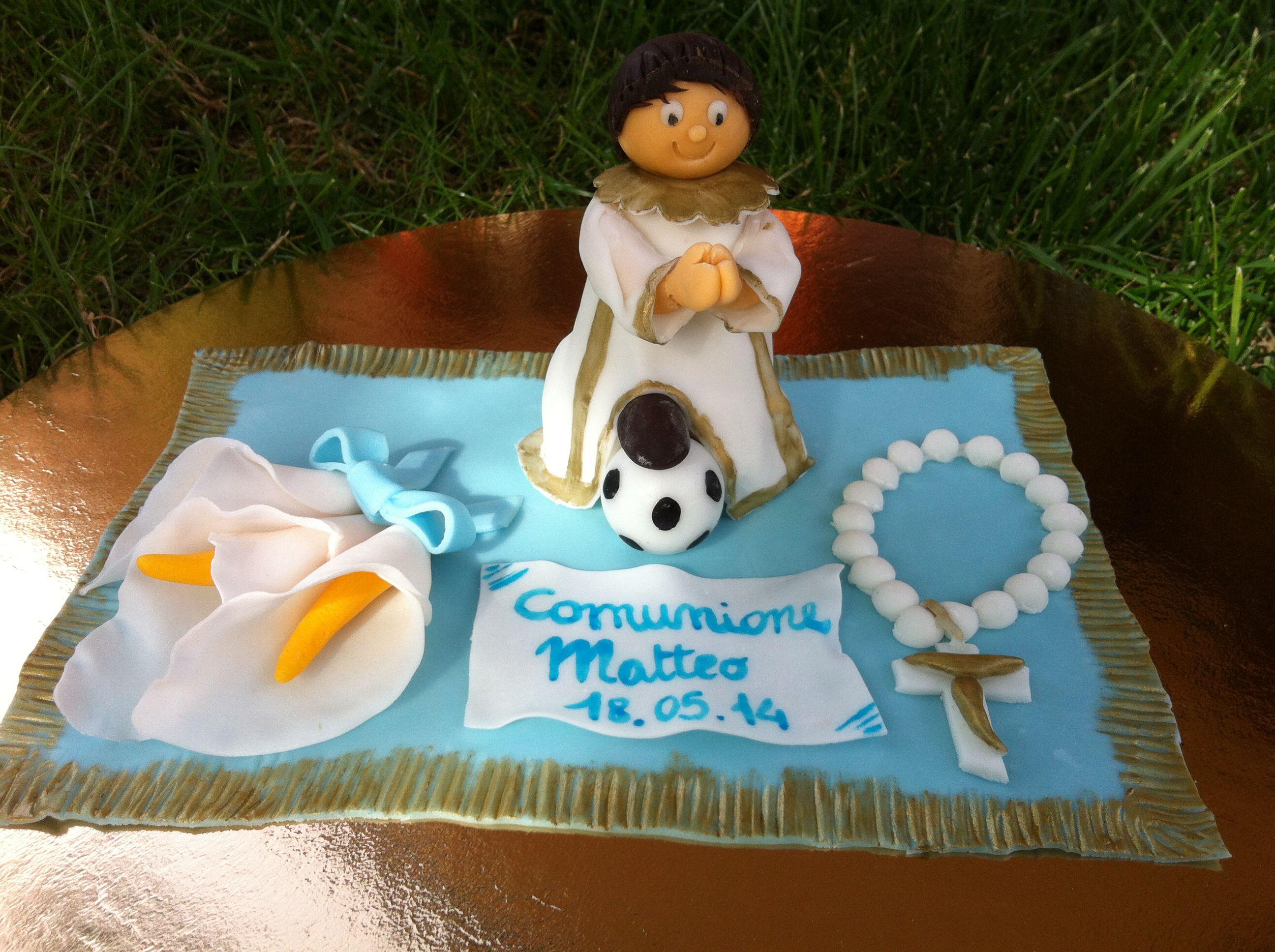 Topper Realizzato Per Comunione Topper Comunione Football Calcio