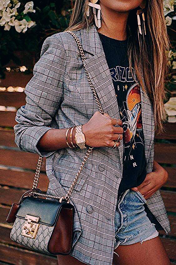 Frühling / Sommer Mode 2020: die karierte Jacke - Outfits und Inspiration – no time for style