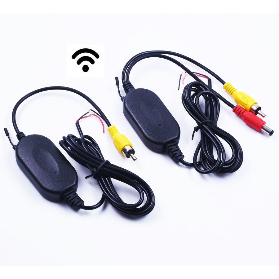Nova 2.4G adaptador Do Módulo SEM FIO 2.4G receptor sem fio para o Monitor Do Carro de volta até Reverter Câmera de Visão Traseira sem fio transmissor