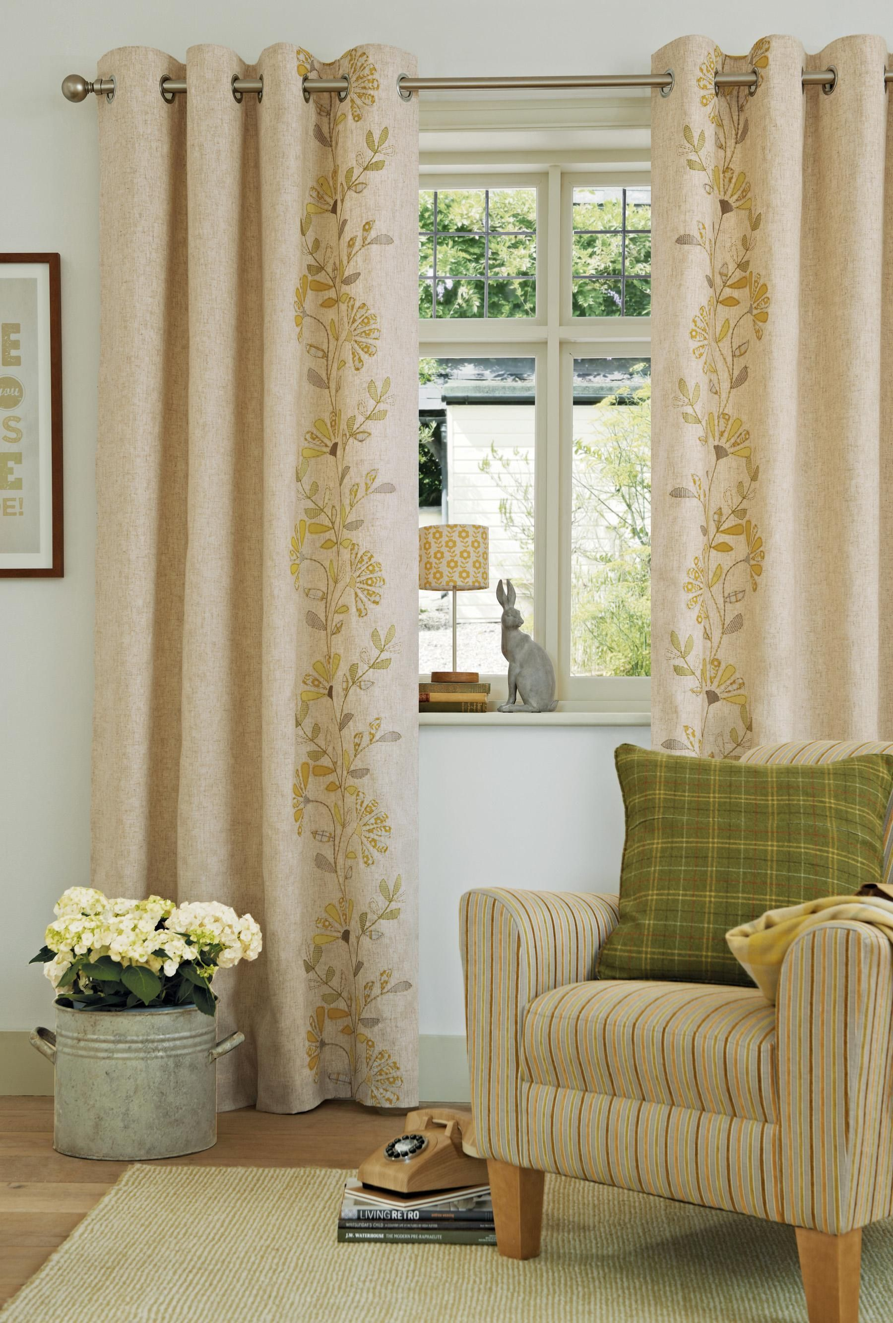 Appliqué Trail Eyelet Curtains from the Next UK online shop