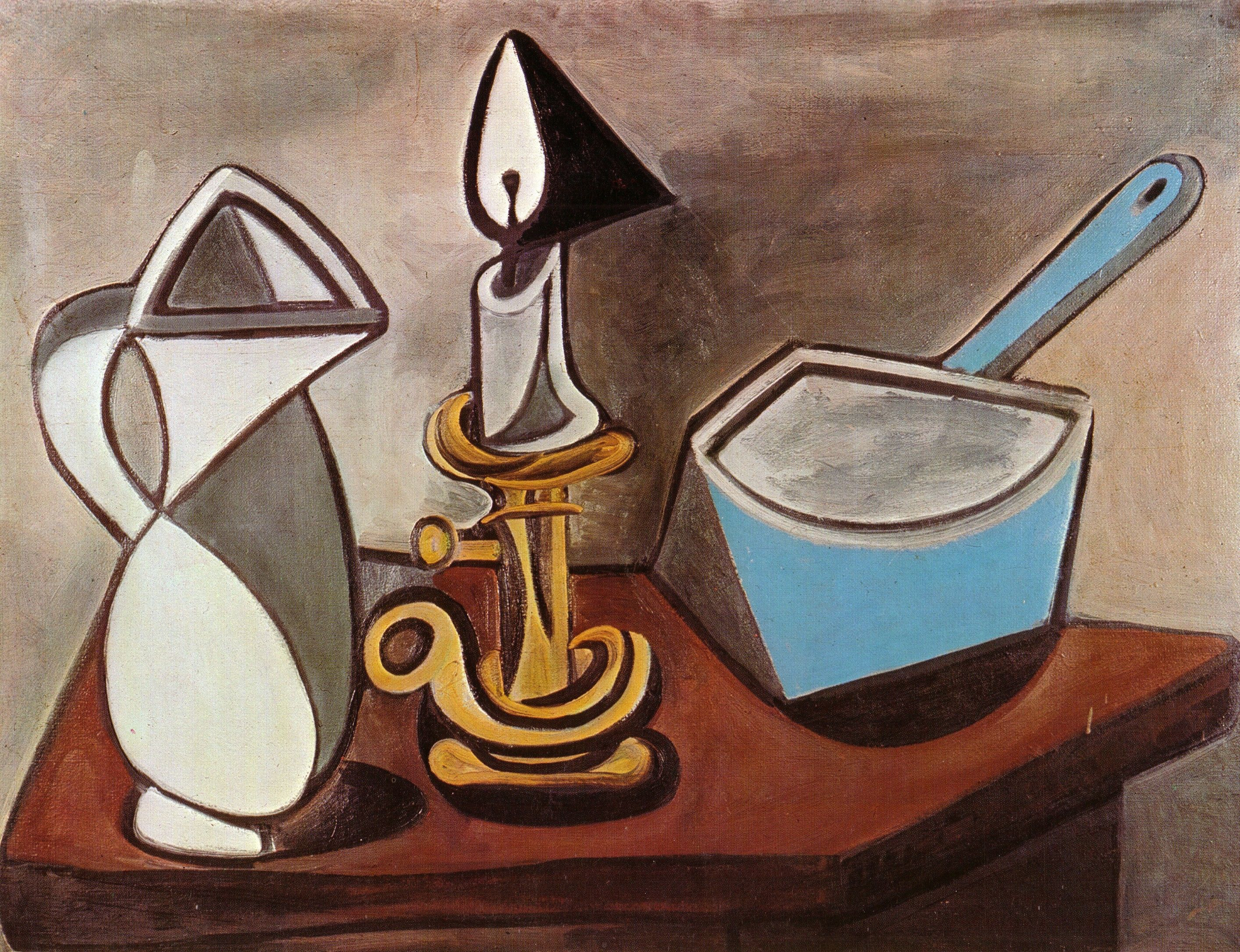 Pitcher, Candle and Casserole [1945] | Paintings Of Pablo Picasso ...