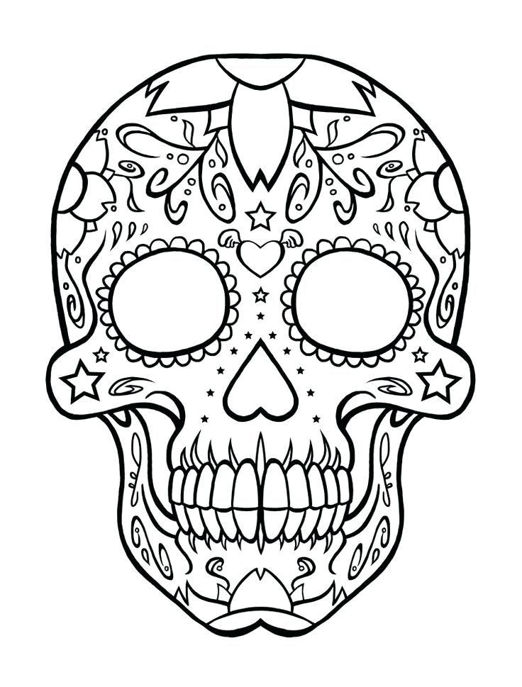 Coloriage A Imprimer Coloriage Tete De Mort Tete De Mort Coloriage