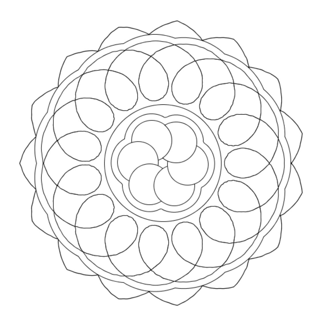 Mandala coloring sheets easy - Easy Mandala Coloring Pages