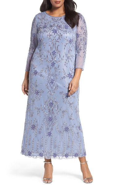 Main Image Pisarro Nights Floral Motif Embellished Long Dress