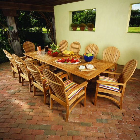 Kingsley Bate Elegant Outdoor Furniture Essex 106 Extension Table With Hampton Dining