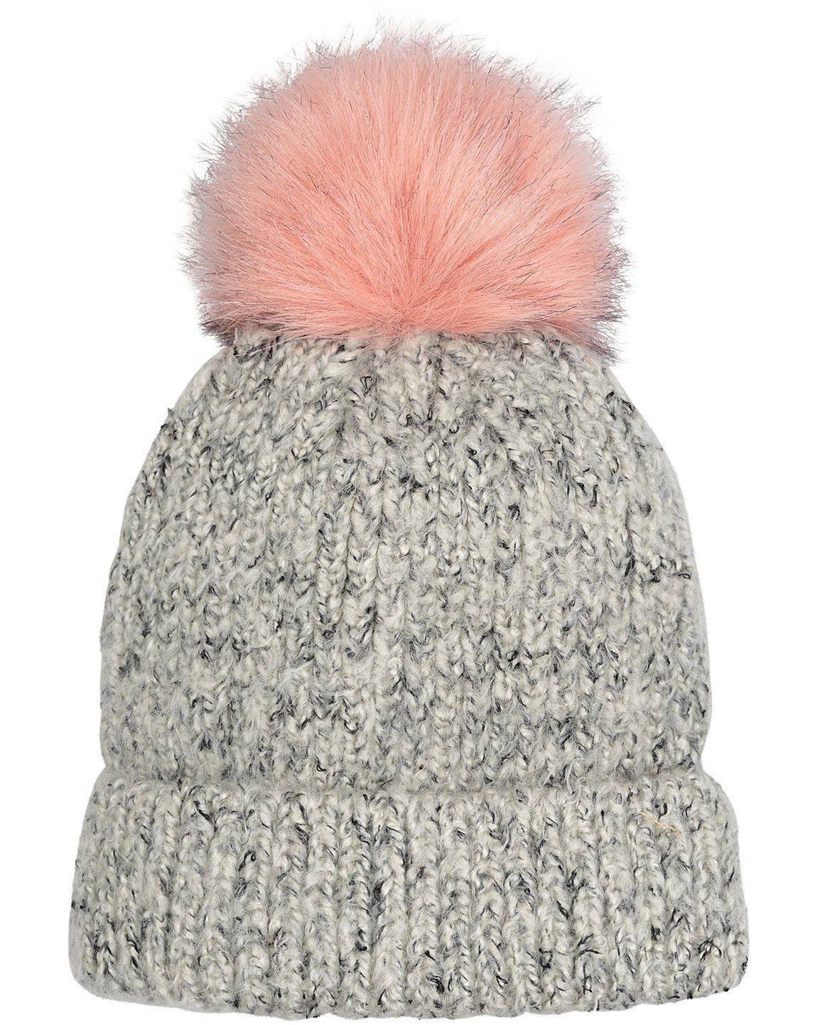 83633af38 Salt & Pepper Faux Fur Pom Beanie Hat | Oliver Bonas | BBY GIRLZ ...