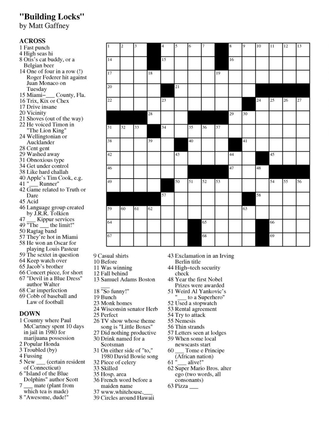 Free Online Crossword Puzzle Maker Printable In