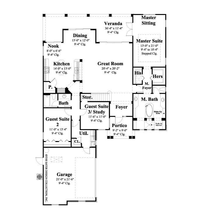 House Plan Zurich Sater Design Collection Homeplan House Plans Bathroom Floor Plans Luxury House Plans