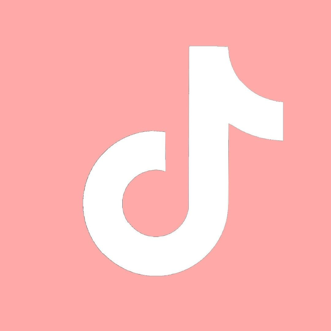 Light Red Tiktok Icon Ios 14 App Icon Iphone Photo Editor App Iphone Photo App