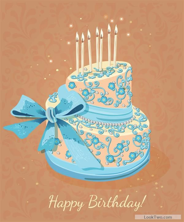 Vintage birthday cake background art vector 03 free vector