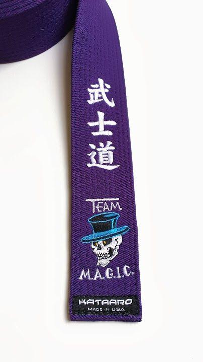 Embroidered Jujitsu Rank Belt - Deluxe | Kuro Obi | Goju ryu