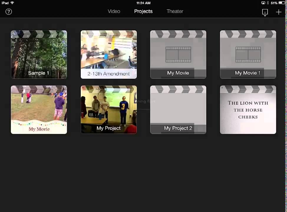 Using the iMovie app coupled with authentic