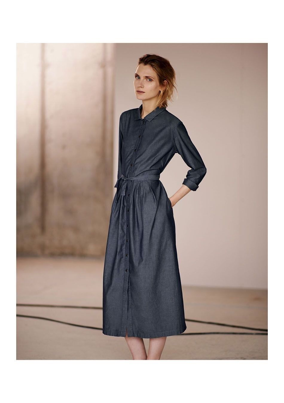 e6d4c0063ed2 TOAST SHIRT DRESS IN BEAUTIFUL QUALITY DARK CHAMBRAY COTTON. MIDI LENGTH.  Size 8 in Clothes, Shoes & Accessories, Women's Clothing, Dresses | eBay