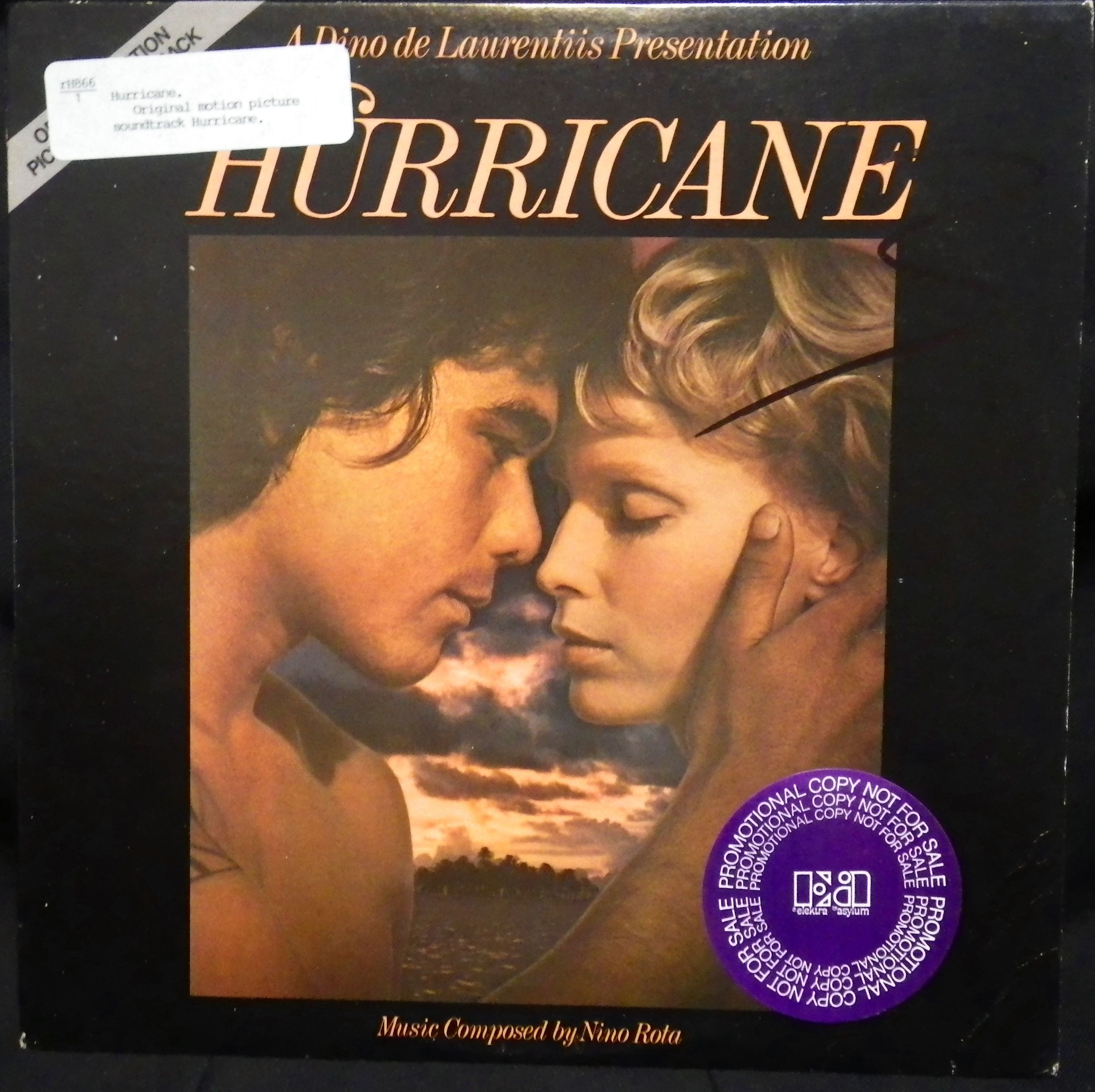 Exotica/South Pacific record. Nino Rota (composer). Hurricane original motion picture soundtrack. -Los Angeles, Calif., Elektra Records 5E-504, stereo, p1979.