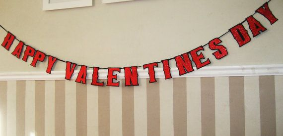 Happy Valentine's Day banner by Devany's Designs $25