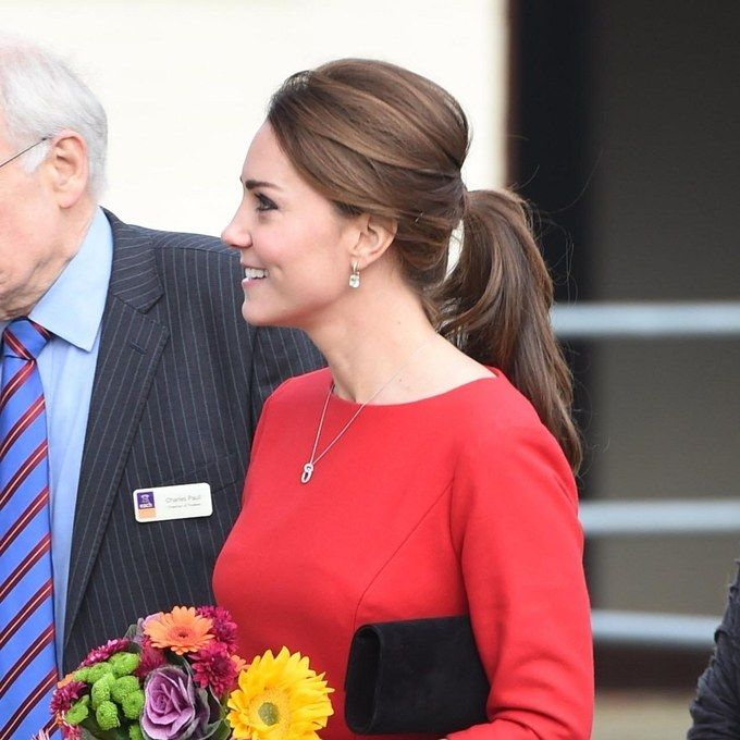 Shhh There S A Secret To Getting The Elegant Ponytail Kate Middleton Just Wore Elegant Ponytail Kate Middleton Hair Perfect Ponytail