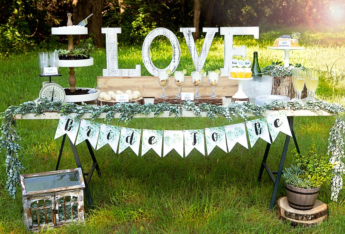 Rustic wedding shower succulent wedding shower let your love