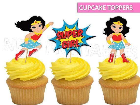 Wonder Woman Cupcake Topper Wonder Woman Printables Wonder Woman