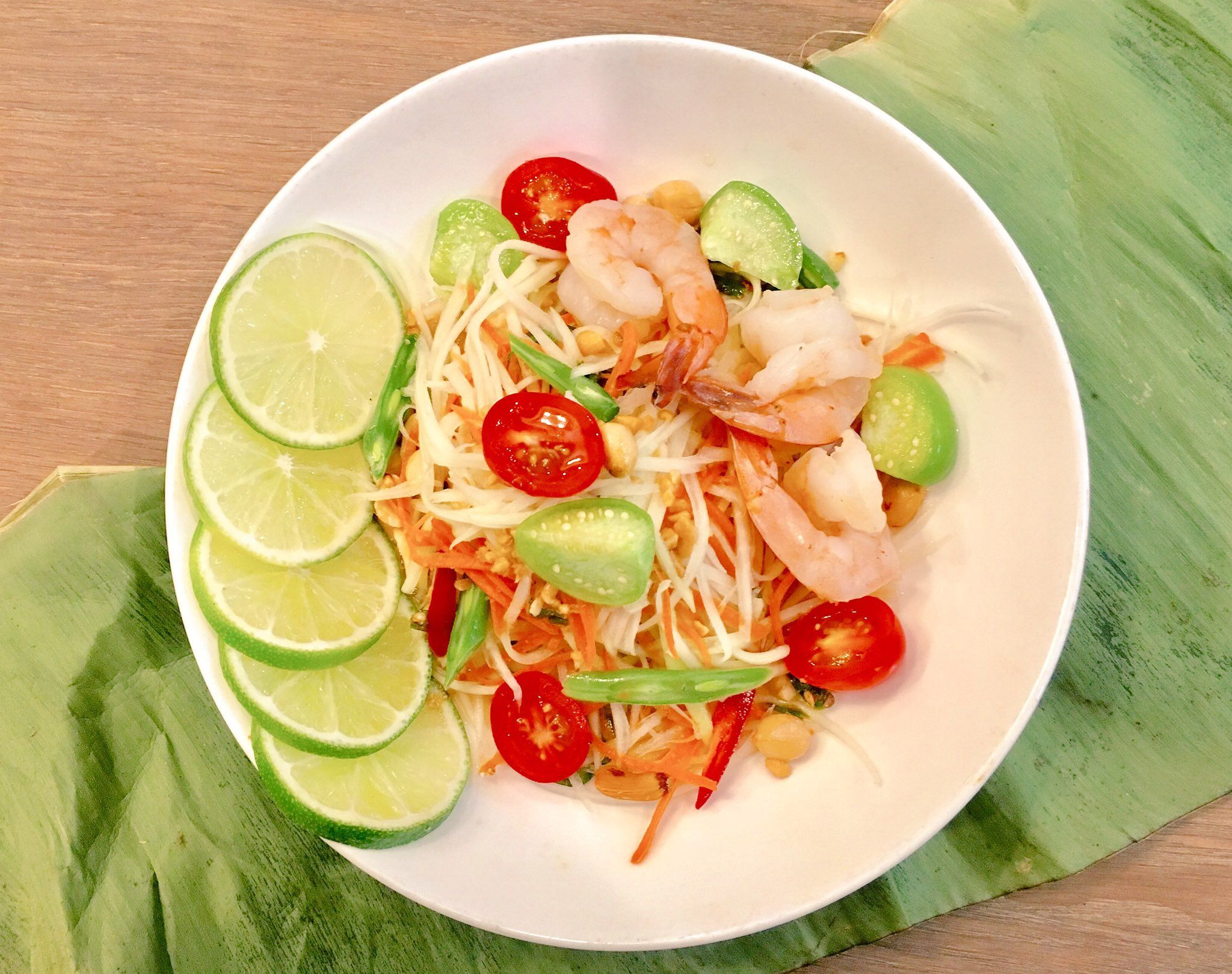 Let's get in shape for the summer. Try Som Tum or Thai papaya salad to help you lose weight quickly!