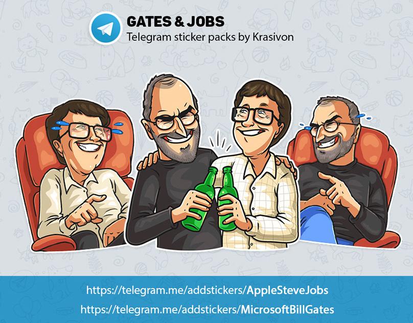 Vector Illustration On Behance Steve Jobs Telegram Stickers Character Illustration